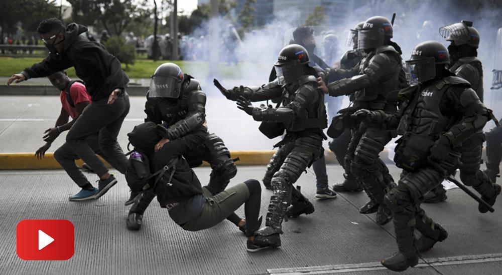 La policía colombiana detiene a miles de personas