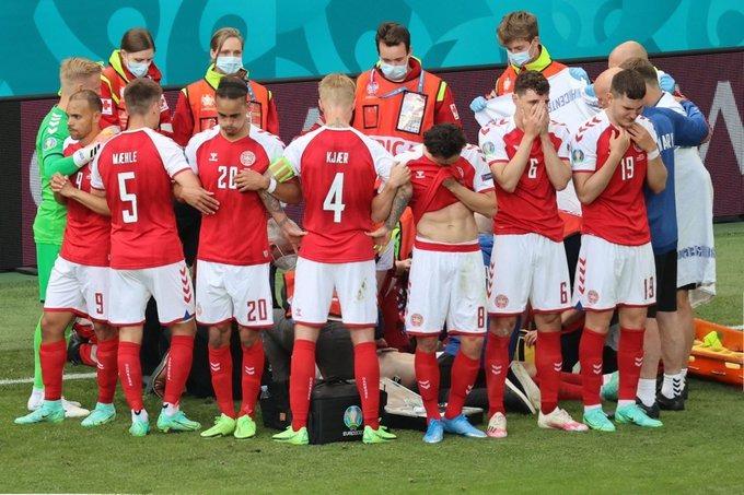 Conmoción: Christian Eriksen, jugador de Dinamarca, se desplomó en pleno partido de la Eurocopa