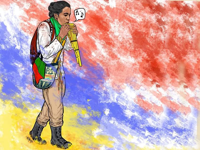 Musuk Pacha= nuevo tiempo, Isan David Imbachi Sanclemente, hermano Yanakuna en Colombia