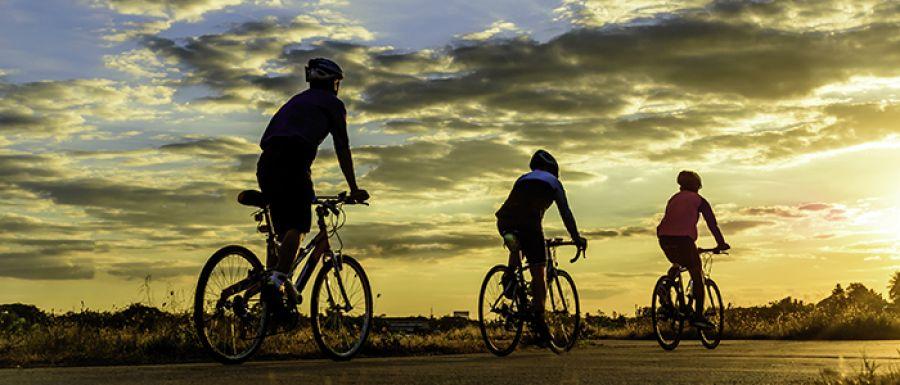 ¡Prohibido andar en bicicleta!