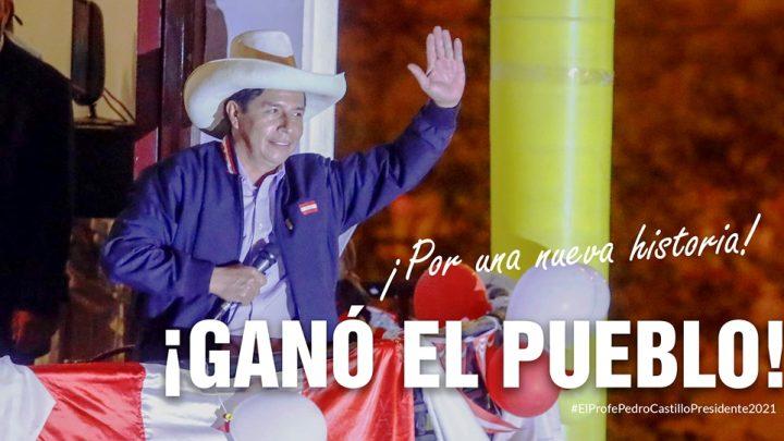 Un maestro es el nuevo presidente de Perú