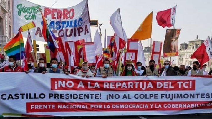 Perú: A un mes de las elecciones, paro nacional en el día del magisterio para detener a los golpistas