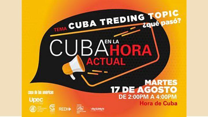 """""""Cuba en la hora actual"""" Debates on line"""