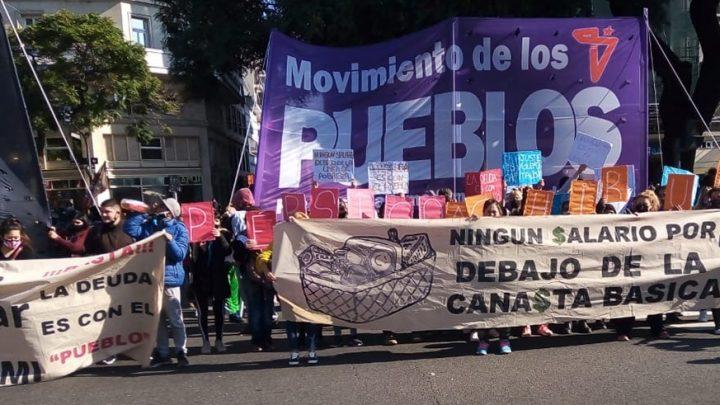Organizaciones territoriales marchan por sus derechos