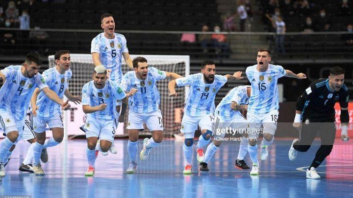 Futsal: Argentina a semifinales contra Brasil