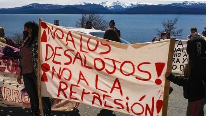 Rechazo al desalojo de una familia en Bariloche