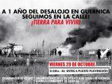 Guernica: El Viernes 29 de Octubre las familias cortaremos el Puente Pueyrredón a un año del desalojo para exigir al gobierno una pronta resolución